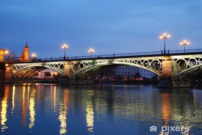 Papier peint vinyle PAISAJE. Puente de Triana, EN SEVILLA O de Isabel II - Vacances