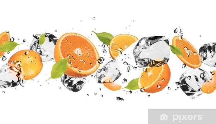 Pixerstick Sticker Ijs fruit op witte achtergrond - Muursticker