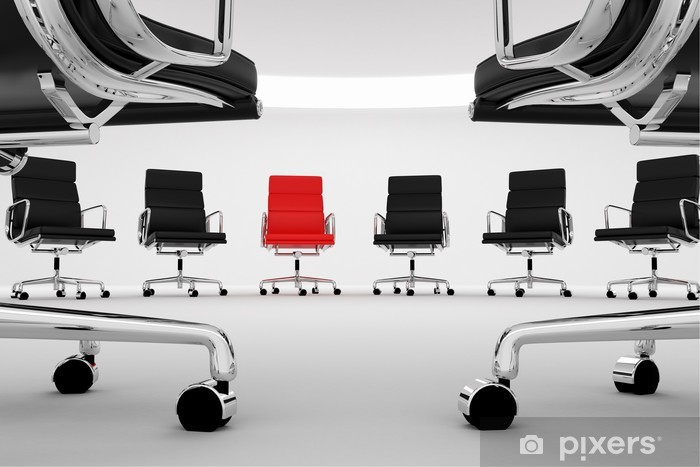 Office chairs. Vinyl Wall Mural - Business Situations