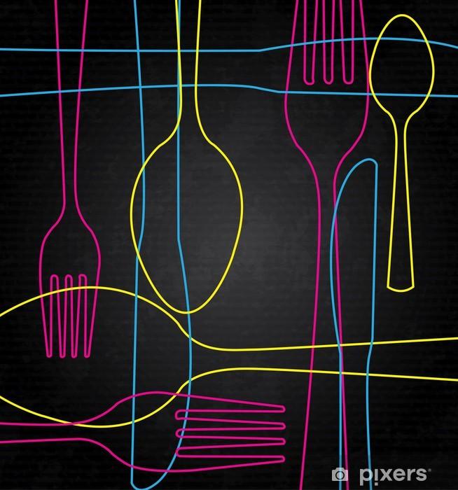 art cutlery Pixerstick Sticker - Themes