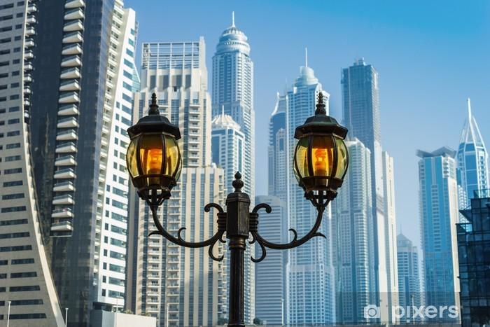 Vinylová fototapeta Výškové budovy a ulice v Dubaj, Spojené arabské emiráty - Vinylová fototapeta