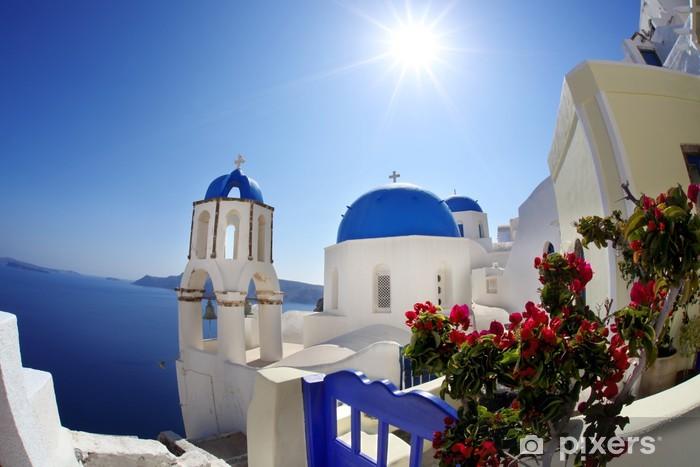 Vinyl-Fototapete Oia Dorf in Santorini, griechische Insel - Europa