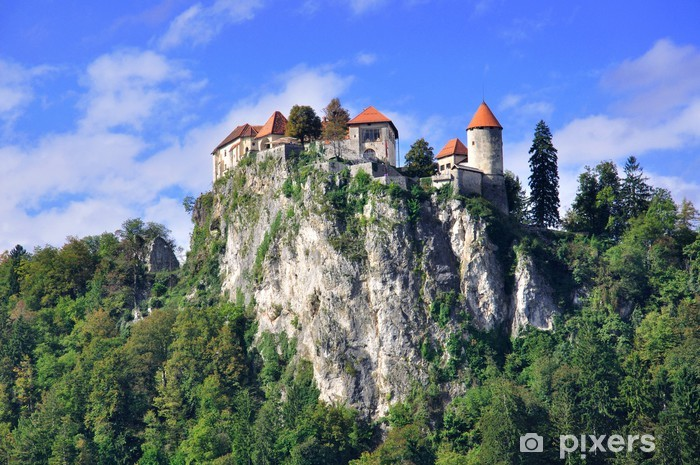 Old Castle In Bled Slovenia Wall Mural Pixers We Live To Change
