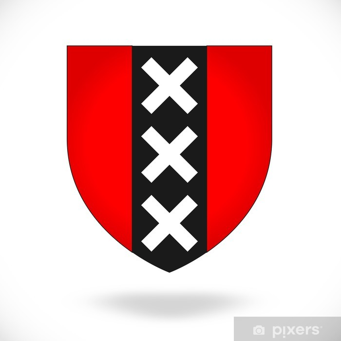 Naklejka Pixerstick Blason d'Amsterdam Pays-Bas - Miasta europejskie
