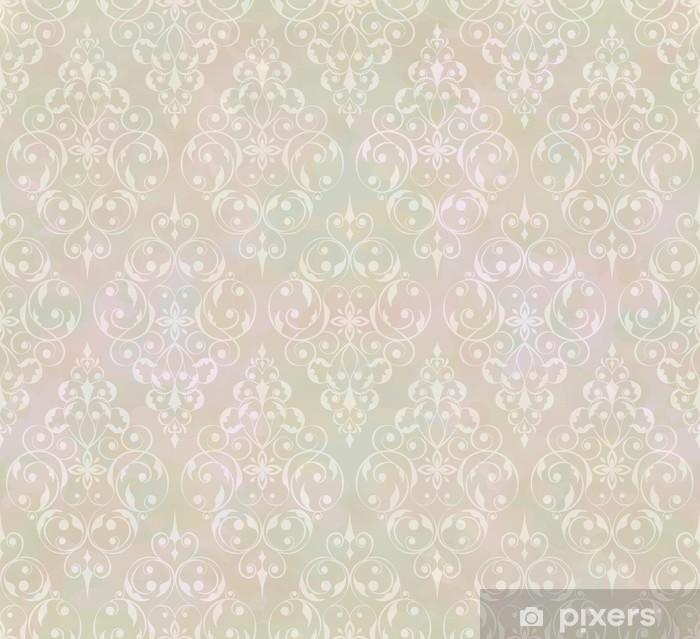 Vintage abstract vector seamless pattern Pixerstick Sticker -