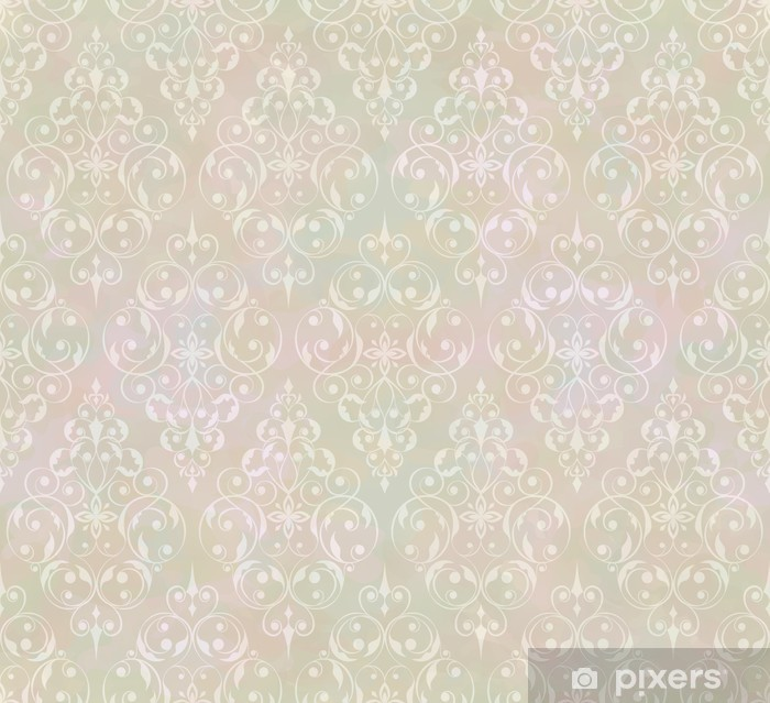 Vintage abstract vector seamless pattern Washable Wall Mural -