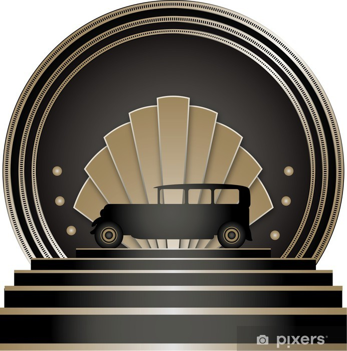Dørklistremerke Art Deco Stye Badge - Bakgrunner