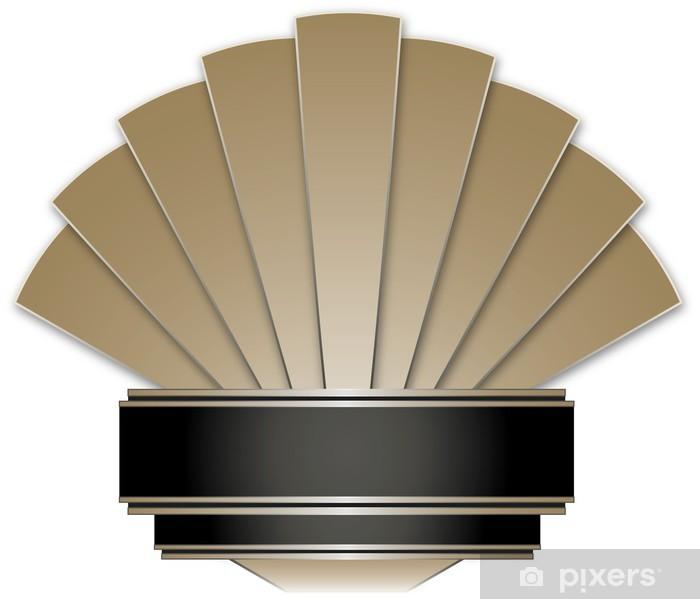 Bord- og skrivebordsklistremerke Art Deco Stye Badge - Bakgrunner
