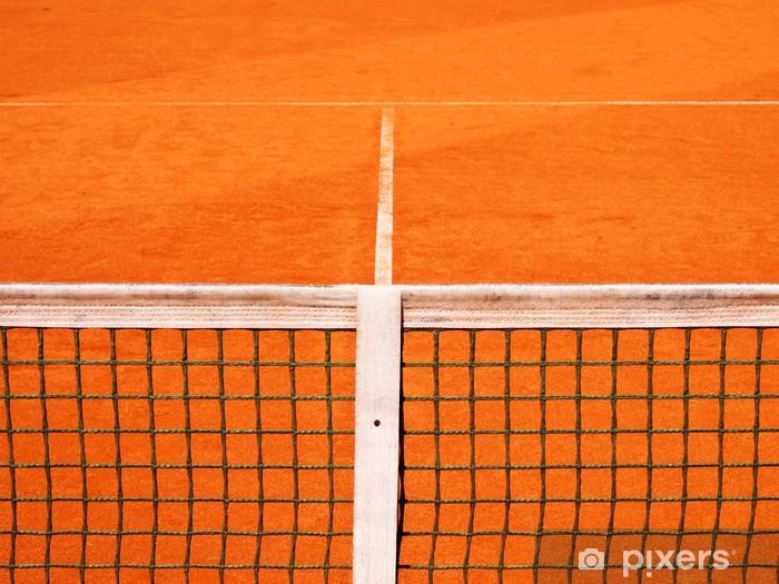 Tennisplatz mit Linie und Netz 119 Pixerstick Sticker - Tennis