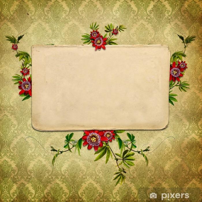 Vinylová fototapeta Vintage květinové pozadí - Vinylová fototapeta