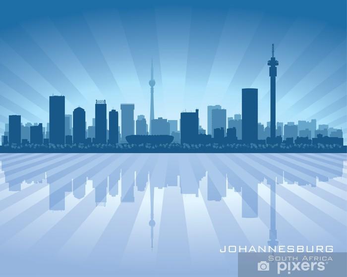 Johannesburg South Africa City Skyline Silhouette Wall