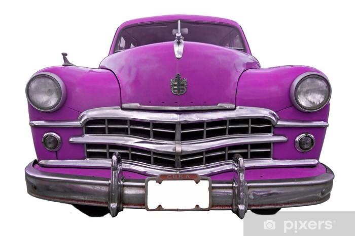 Papier peint vinyle Rose oldtimer voiture - Cuba - Sticker mural