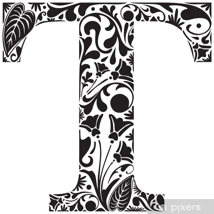Papier peint vinyle Floral T - Signes et symboles