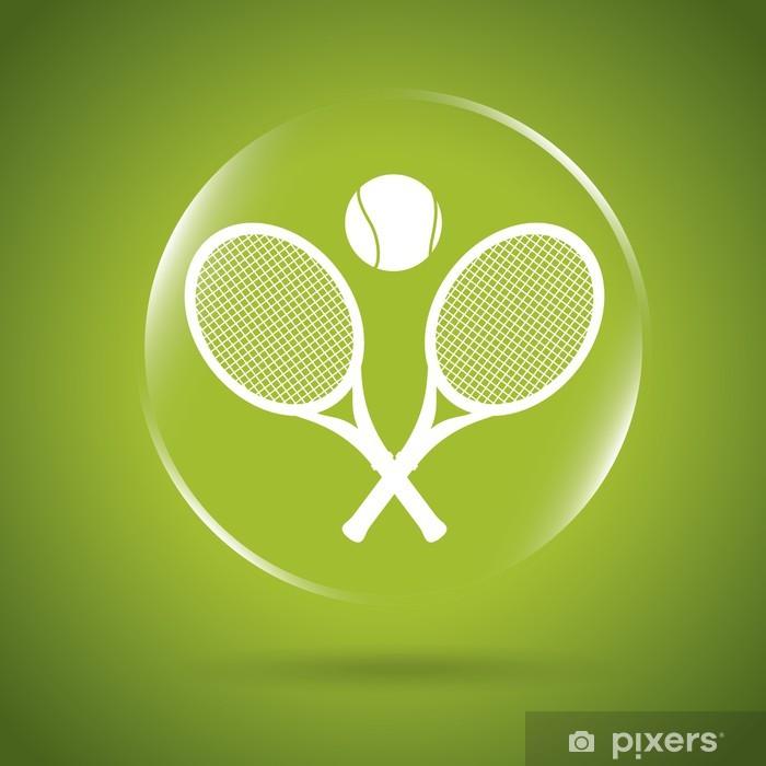 Sticker Pixerstick Tennis icône bulle - Articles de sport