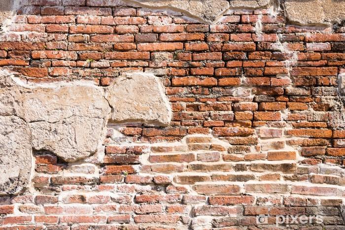 Fotomural Estándar Fragmento de pared de ladrillo antiguo - Temas