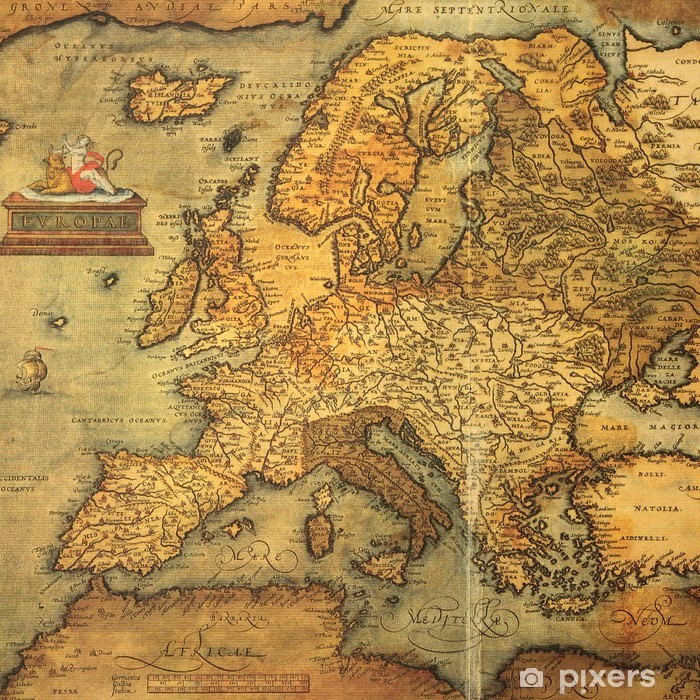 Reproduction Of 16th Century Map Of Europe Wall Mural Pixers We