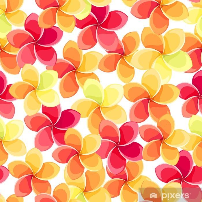 Papier peint vinyle Seamless avec des fleurs colorées. Vector illustration. - Textures