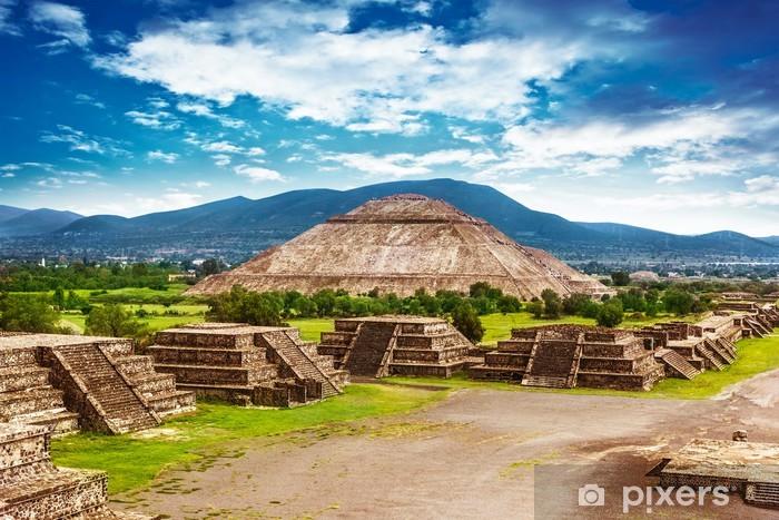 Pyramids of Mexico Vinyl Wall Mural - America