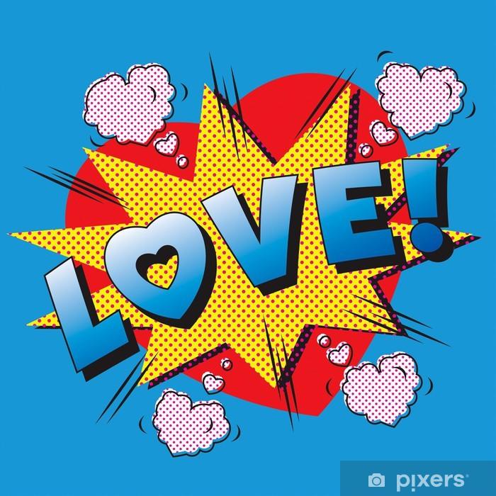 Vinilo Pixerstick Amor Explosion De Dibujos Animados Enamorarse El