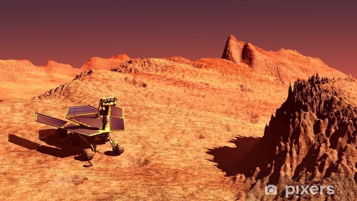 Mars rover on Mars Pixerstick Sticker - Planets