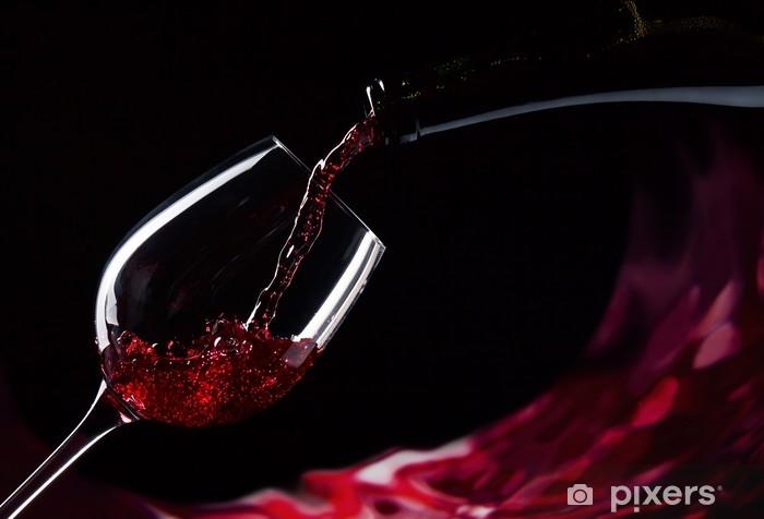 Papier peint vinyle Bouteille et un verre de vin rouge - Thèmes