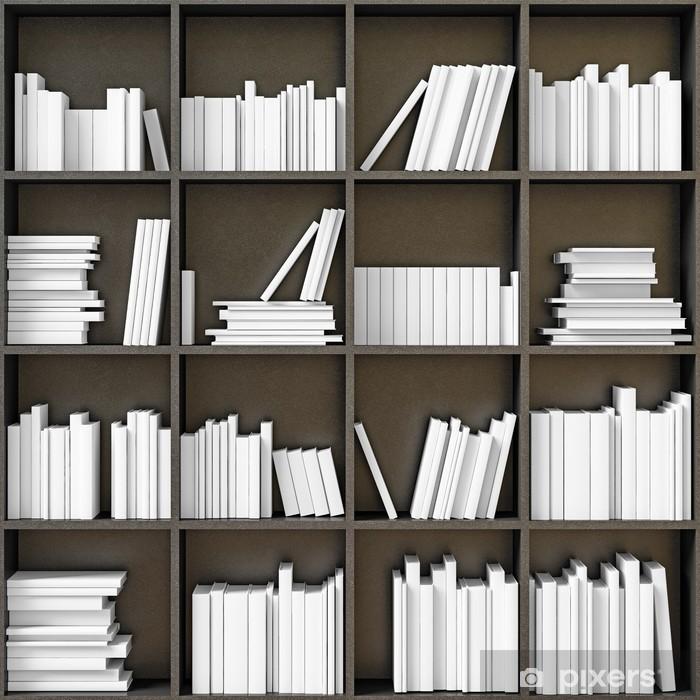 Pixerstick Sticker Boekenkast met boeken - bibliotheek