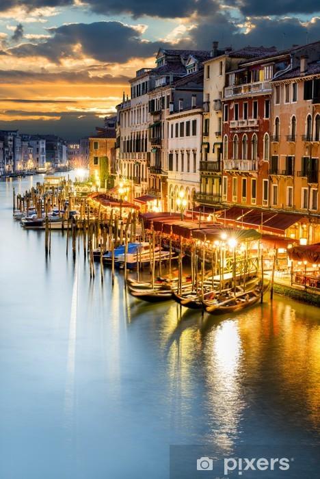 Grand Canal in Venice by night Pixerstick Sticker -