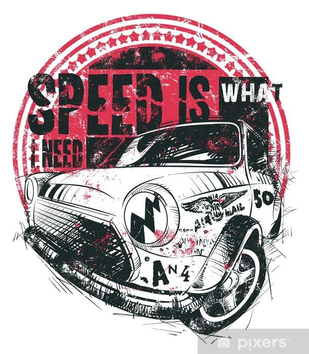Naklejka Pixerstick Prędkość jest to, czego potrzebuję - Znaki i symbole