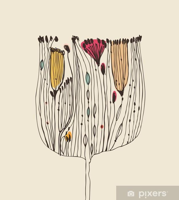Papier peint vinyle Bouquet de fleurs décoratif mignon - Thèmes