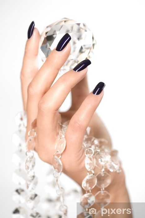 Beautiful woman hands with big diamond Vinyl Wall Mural - Success and Achievement
