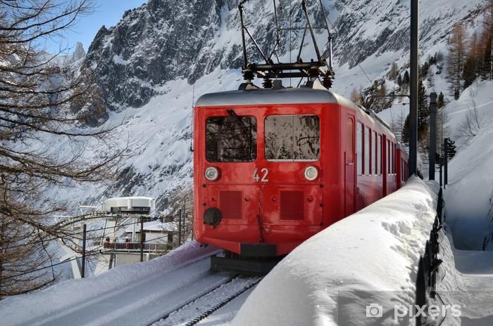 Vinyl-Fototapete Scenic Bergbahn im Schnee - Themen