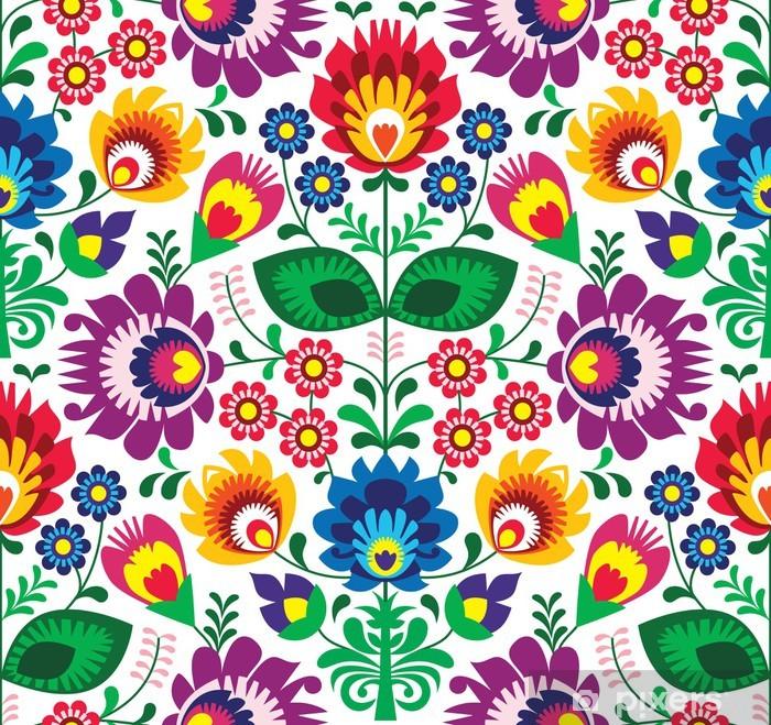 Vinyl Fotobehang Naadloze traditionele bloemen polish patroon - etnische achtergrond - Stijlen