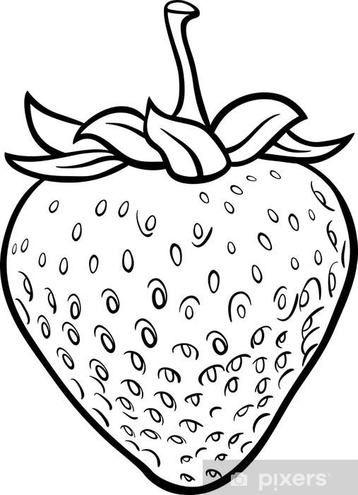 Fotomural Ilustración de fresa para colorear el libro • Pixers ...