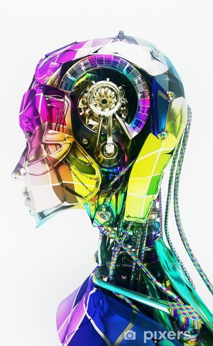 Fototapeta winylowa Cyborg, robot, Androide volto, crash test, Informatica, komputer - Części ciała