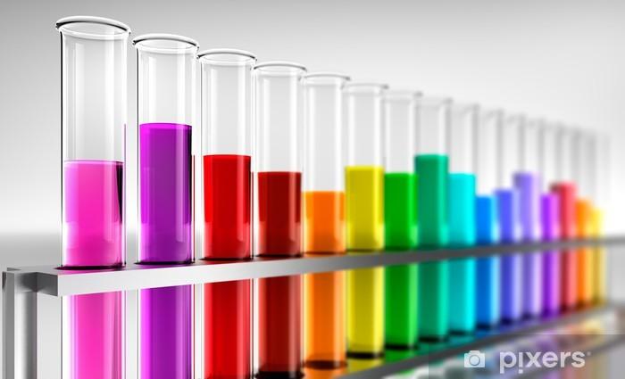 Aufkleber Farbige Reagenzgläser Pixerstick