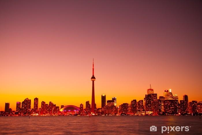 Sticker Pixerstick Vue de Toronto Night Sky lumière depuis l'île centrale - Amérique