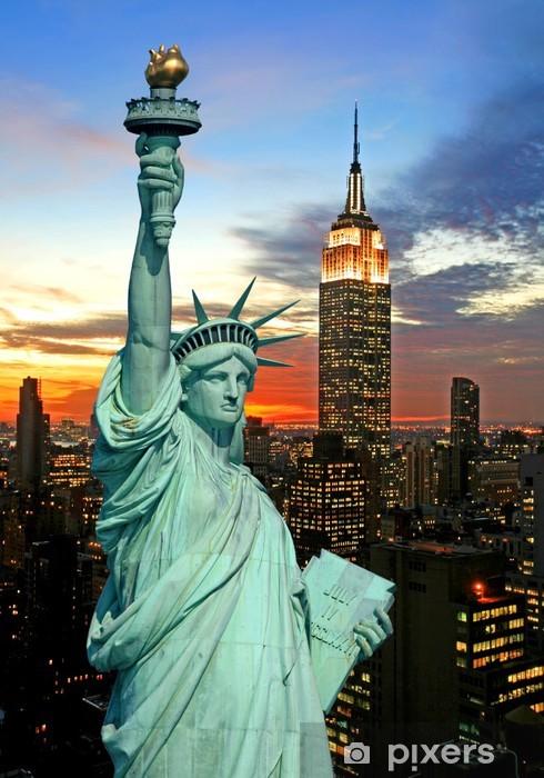 Fototapeta winylowa Statua Wolności i New York City Skyline - Tematy