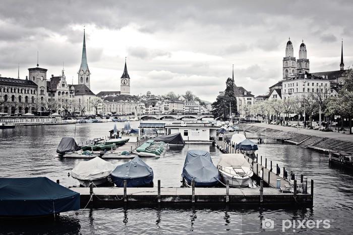 Fototapeta winylowa Stadtbild decoloriert - Zurych - Europa