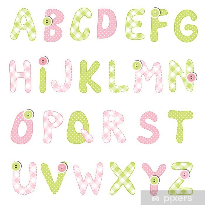 Poster Alphabet set - Thèmes