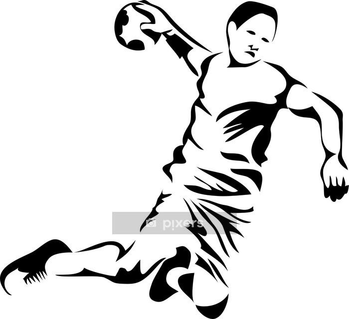 Veggklistremerke Håndballspiller - Veggklistremerke
