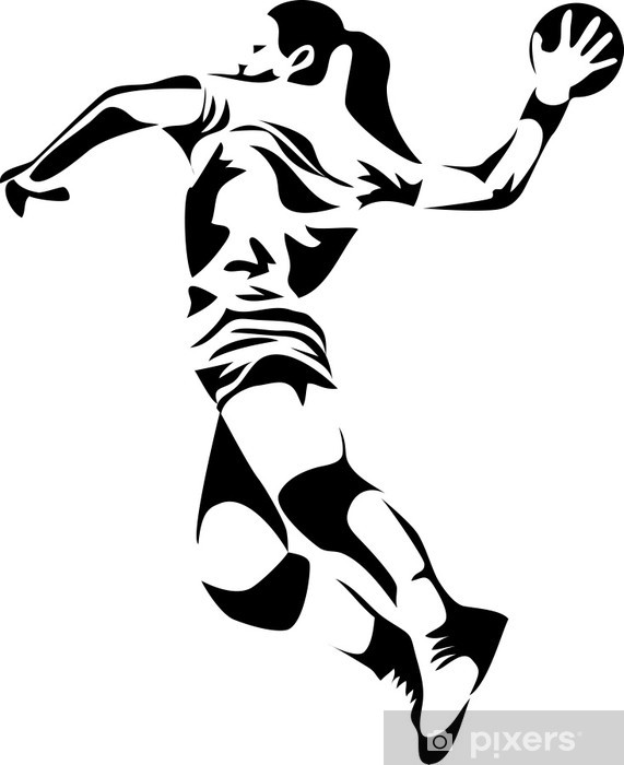 Bord- og skrivebordsklistremerke Kvinner håndball - Lagidrett