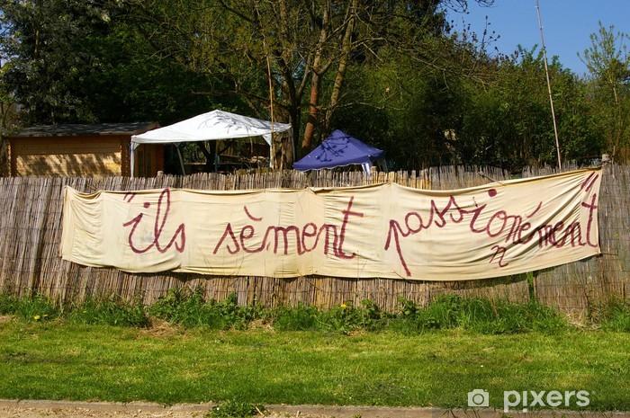 Fototapeta winylowa Banderole humoristique i écologique. - Dom i ogród