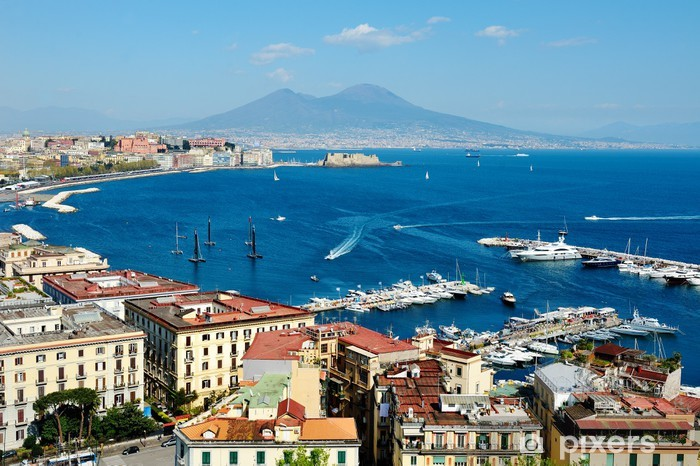 wonderful Naples panoramic view with Vesuvius Pixerstick Sticker - Themes