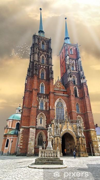 Papier peint vinyle Wroclaw cathédrale - Thèmes