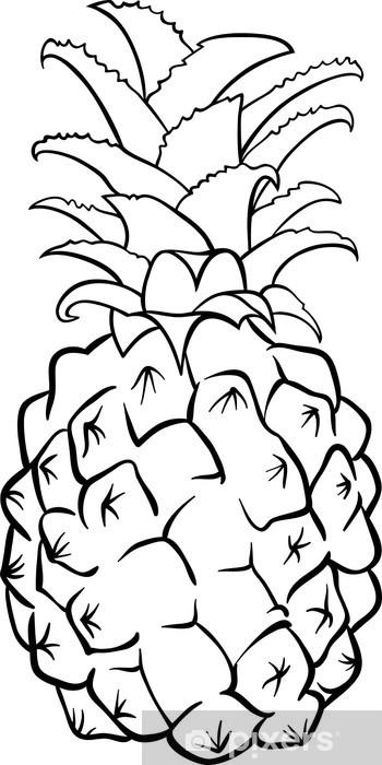 Boyama Kitabı Için Ananas Meyve Duvar Resmi Pixers Haydi