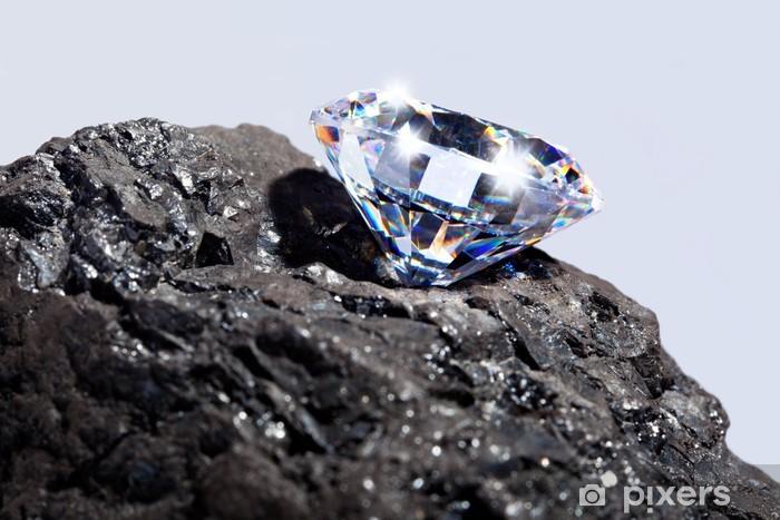 Sticker Pixerstick Diamant et du charbon - Mode