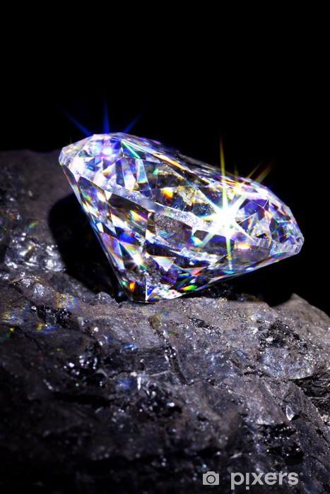 Naklejka Pixerstick Diament na węglu - iStaging