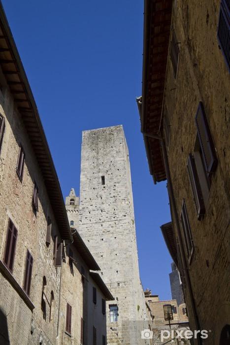 Sticker Pixerstick San Gimignano en Toscane - Vacances