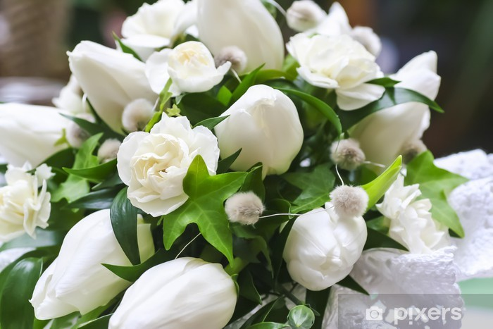 Foto Di Fiori Bianchi.Carta Da Parati Wedding Bouquet Di Fiori Bianchi Primo Piano