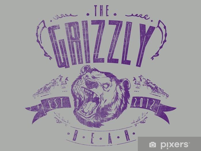 Sticker Pixerstick L'ours Grizzly - Signes et symboles